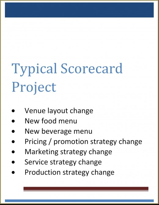 typical scorecard project